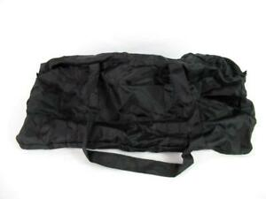 Collapsible Gym Duffel Bag Travel Black Zip Closure 2 Handles Compact Polyester