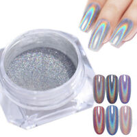 0.5g Holographic Glitter Silver Nail Art Powder Dust Pigment Chrome Decoration