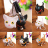 US_ AU_ BL_ Cute Cat Kitten Keychain HandBags Pendant Ornament Toy Key Chain Key