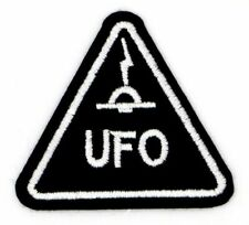 UFO PATCH, UNIDENTIFIED FLYING OBJECT  ALIEN SPACECRAFT WARNING ALERT (BUT-505)