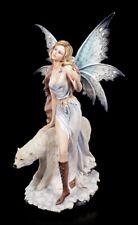 Elfen Figur Milaileé mit Eisbär - groß XL Fee Fairy Deko Statue
