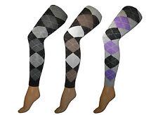 Damen-Socken & -Strümpfe im Blickdichte Strumpfhosen-Stil mit Polyamid und Karo, Rauten für Freizeit