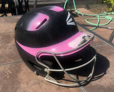 EASTON Natural Softball Batting Helmet 6 7/8 - 7 5/8 Face Guard Mask Black/Pink
