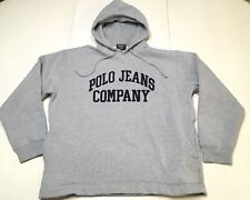 Polo Jeans Company Ralph Lauren Spell Out Pullover Hoodie Women Sz M - EUC