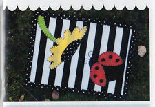 PATTERN - Ladybug in the Sun Mug Rug - cute applique PATTERN - Stitches of Love