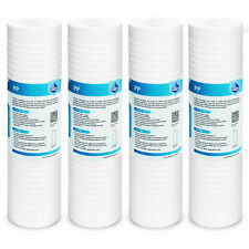 """5 Micron Grooved Sediment Water Filter Replacement Cartridge, 10""""x2.5""""- 4 Pack"""
