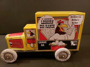 FOGHORN LEGHORN 1992Tin Delivery Truck Leghorn egg  Schylling Collector Series