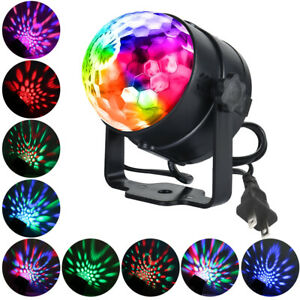 Disco Ball Party Light Sbolight Disco Lights RGB MP3 Crystal Magic Ball Sound Activated DJ Lights Mini Rotating Strobe Stage Lights with Remote Control for Home Party Gift Kids Birthday Dance Club Bar