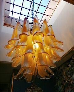 Italian vintage Murano chandelier - 42 glass petals