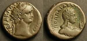 Egypt, Alexandria BI tetradrachm. Nero / Poppaea