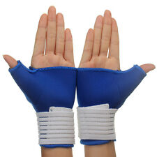Elastic Thumb Wrap Hand Wrist Palm Splint Support Gloves Anti-slip Protector