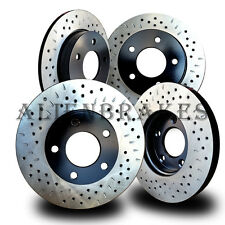 HON019SD Civic Si Hatchback 04-05 Rotors Front + Rear Cross Drill & Dimple Slots