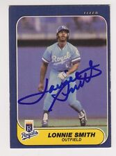 Lonnie Smith 1986 Fleer #21 Kansas City Royals SIGNED CARD AUTOGRAPHED