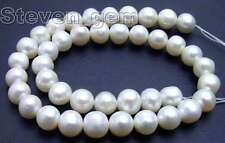 """SALE Big 12-13mm White Natural Freshwater round  Pearl Loose Bead 14""""-los45"""
