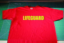 Lifeguard T Shirt, Baywatch, Hoff, Hoffman. Red Fruit of the Loom Size Large