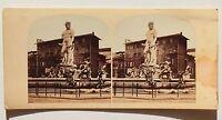 Fontana Florence Italia Stereo Vintage Albumina Ca 1865
