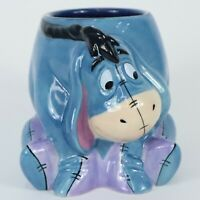 DISNEY EEYORE MUG / 12 OZ CERAMIC / HAND PAINTED /  3 DIMENSIONAL SCULPTURED
