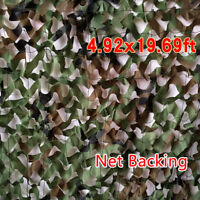 20 x 5FT Woodland Leaves Military Camouflage Net Hunting Camo w/ String Netting