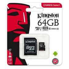 64 GB SDHC Micro SD Karte Kingston 64GB Class Klasse 10 mikro Adapter Card