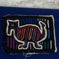 Vintage ANTEATER Mola Kuna Panama Textile Folk Art EUC 6.5in x 8.5in No Frame