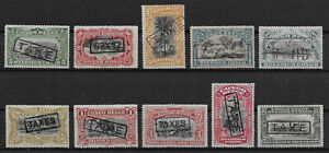 """Congo - Postage Due - 1910 - COB TX31/40* - Handstamped """"TAXES"""" - MH -"""