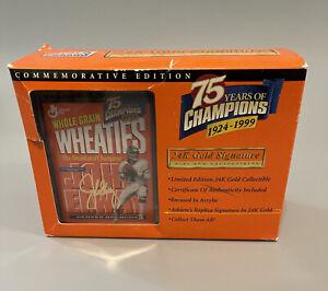 John Elway 1999 Wheaties Mini Box Commemorative Edition 75 Years Of Champions