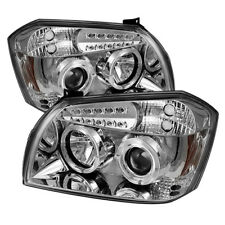 Dodge 05-07 Magnum Chrome Dual Halo Projector Headlights w/ Signal Lamps SE SXT