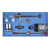 Dual Action Airbrush Kit 0.2mm/0.3mm/0.5mm Needle Air Brush Spray Gun SP134T