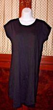 JAMES PERSE Black Cotton Shirt Dress Size 0