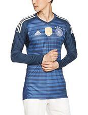 Maillot gardien de football bleus longueur manches manches longues