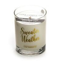 Cozy Sweater Weather Campfire Candle, Scented Premium Soy Wax, 11 oz Jar Gift