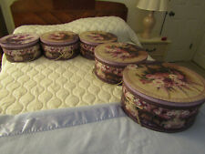 Round Nesting Hat Boxes with Rope Handles Set of 5