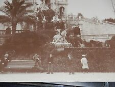 LARGE SEPIA ORIGINAL VICTORIAN PHOTO MYSTERY LOCATION WITH DRAGONS ! 20X 15 CM