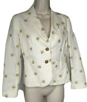 Anthropologie Daughters of the Liberation Size 0 Bee Embroidered Jacket Blazer
