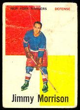 1960 61 TOPPS HOCKEY #9 JIMMY MORRISON LG-VG N Y NEW YORK RANGERS