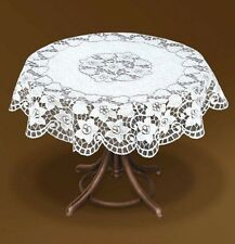 """Fancy round floral white lace Tablecloth NEW Ø 130cm (51"""") perfect gift/present"""