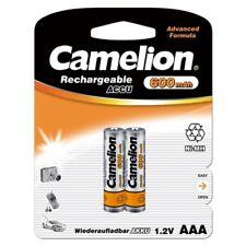 2x Akku 1,2V 600mAh Micro AAA HR03 NiMH wiederaufladbar Hersteller Camelion