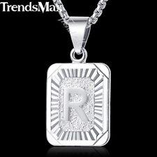 Silver Initial Letter A-Z Pendant Necklace 18