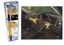 Heavy Duty Double Hook Car Steering Wheel Lock - Universal Fitting