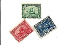 ORLEY US STAMPS # 548-550 Pilgrim Tercentenary Set Well Centered  MNH/OG,