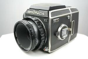 Bronica ECTL camera + 75mm f2.8 Nikkor lens, + 120/220 film back, excellent