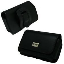 Premium Leather Side Case Pouch (With Belt Clip and Belt Loop) + Custom Cut LCD
