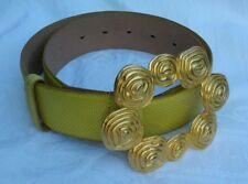 Vintage Carlisle Belt Retro Collectable Fun Fashion Yellow Gold Tone Buckle Fun