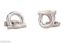 Salvatore Ferragamo Cufflinks Gancini SIlver jewelry for men New