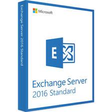 Microsoft Exchange Server 2016 Standard Licence Key - Fast Delivery