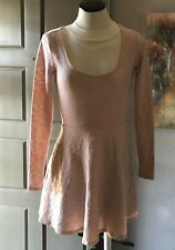 Forever 21 Bodycon Skaters Dress Women's Size S Blush Pink Super Stretchy Floral