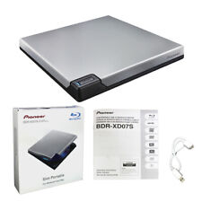 Pioneer BDR-XD07S Portable 6X Blu-ray Burner External Drive with USB Cable