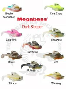 "3"" Megabass Dark Sleeper 3/4oz Paddle Tail Swimbait - Choose Color"