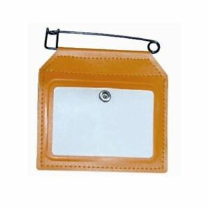 HME SMALL HUNTING LICENSE HOLDER WITH CLIP - ORANGE