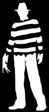 FREDDY KRUEGER Nightmare on Elm Street Vinyl Decal Sticker Bumper Window White